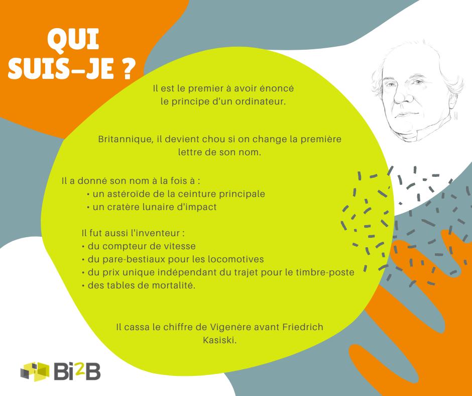 Indices -Quiz n°1 - Charles Babbage